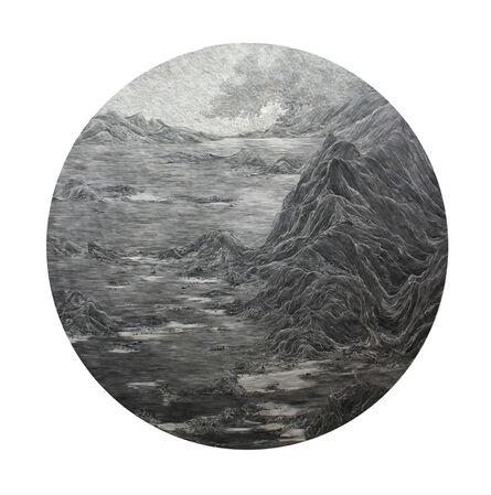 Ambrosine Allen, 'Mountain Lake with Retreating Water', 2017