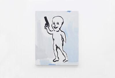 Alvaro Seixas, 'Untitled Painting (Character with Gun)', 2017