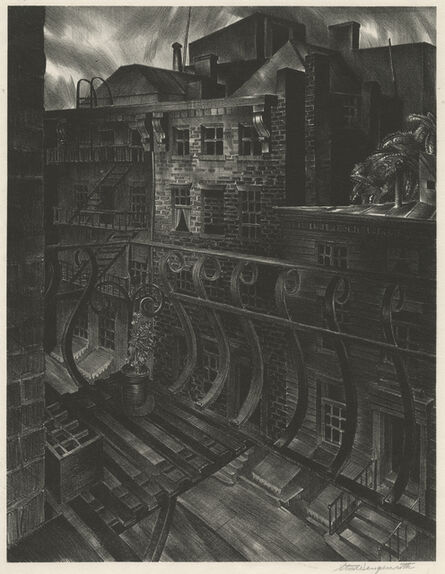 Stow Wengenroth, 'City Street', 1933