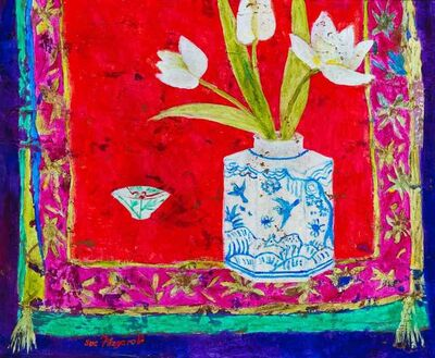 Sue Fitzgerald, 'Blue Birds and White Tulips', 2018