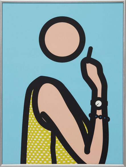 Julian Opie, 'Ruth With Cigarette', 2005-06