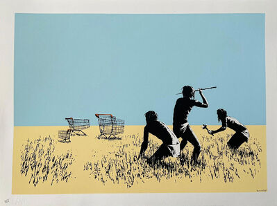 Banksy, 'Trolleys (colour) (Signed)', 2007