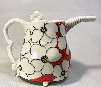 Jerry Bennett, 'Red and White Teapot', 2020