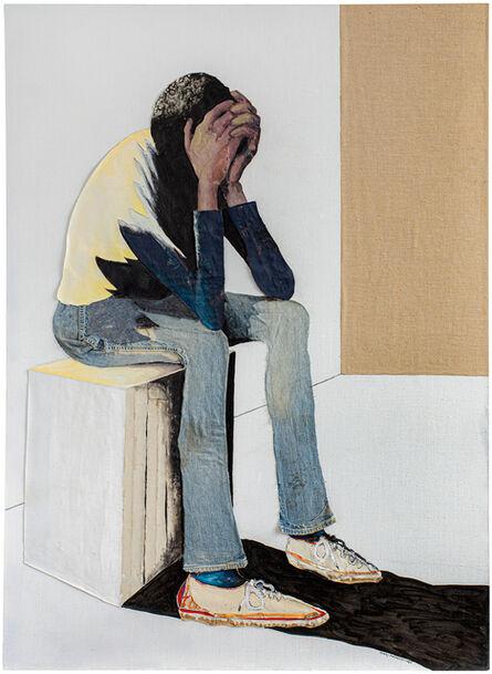 Benny Andrews, 'Portrait of Despair ', 1985