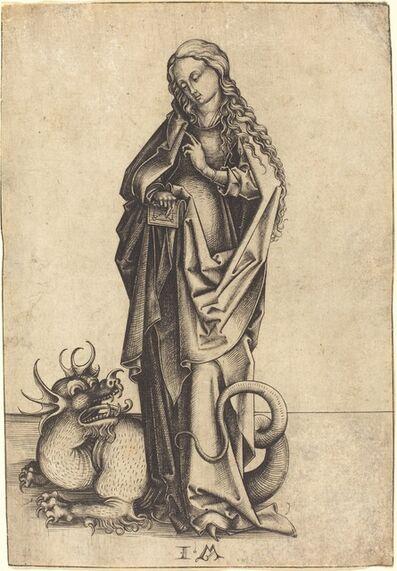 Israhel van Meckenem, 'Saint Margaret', ca. 1480/1490