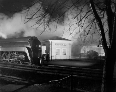 O. Winston Link, 'Meeting of N&W #2 and B&O #7(Steam meets Diesel)', 1957