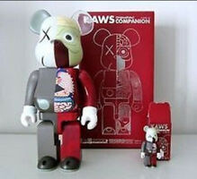 KAWS, 'Bearbrick Dissected Companion 400% & 100% (Brown)', 2010