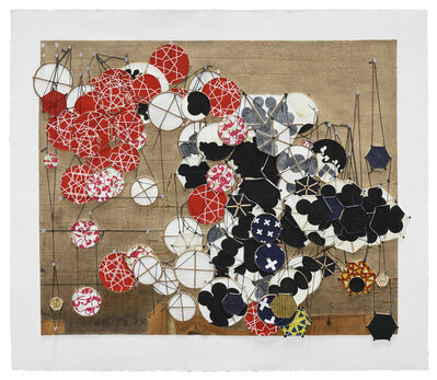 Jacob Hashimoto, 'Another Cautionary Tale Comes to Mind (but immediately vanishes)', 2016