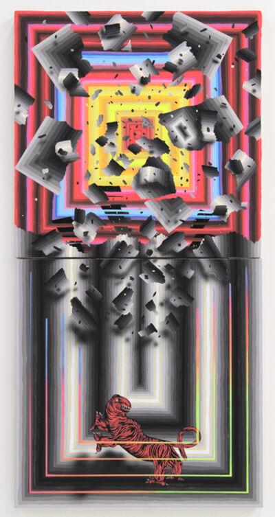 Andrew Schoultz, 'Falling Structure (Beast)', 2014
