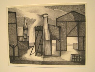 Clinton Adams, 'Facade', 1949