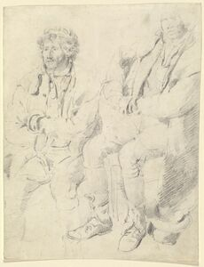 James Ward, 'Two Studies of a Seated Man'