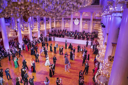 Lauren Greenfield, 'A choreographed waltz, the main event at Tatler's Debutante Ball, in the Pillar Hall at the Palace of Unions, Moscow', 2014