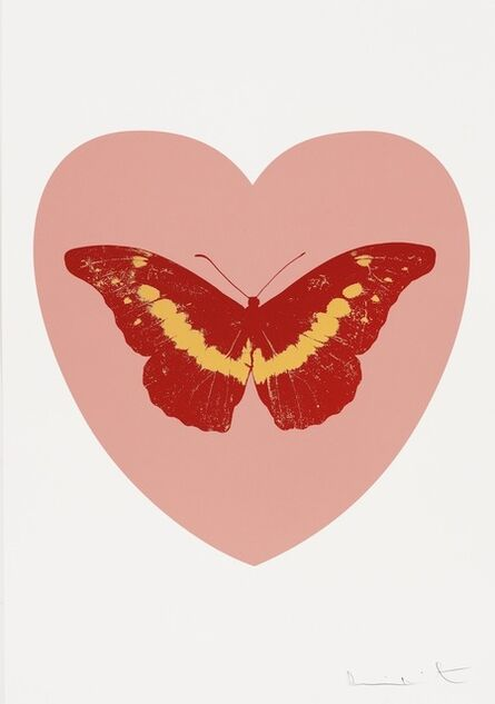 Damien Hirst, 'I Love You - pink, poppy red, cool gold', 2015