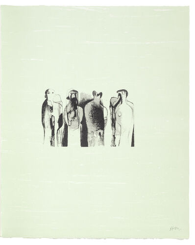 Henry Moore, 'Four Standing Figures', 1973