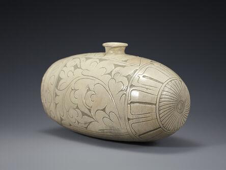 Unknown Artist, 'Buncheong Bottle', Joseon Dynasty-15th century
