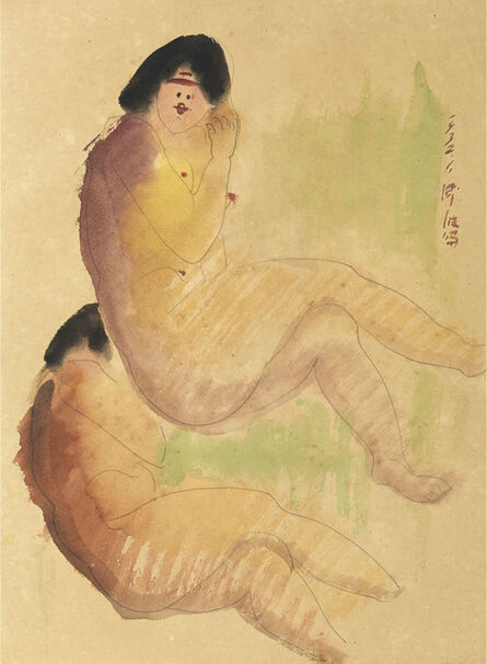 Chen Cheng-Po 陳澄波, 'Seated Nude-32.1 (40)', 1932