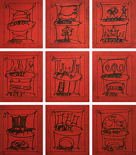Matt Mullican, 'Untitled (Learning from that person's work: city, red)', 2009