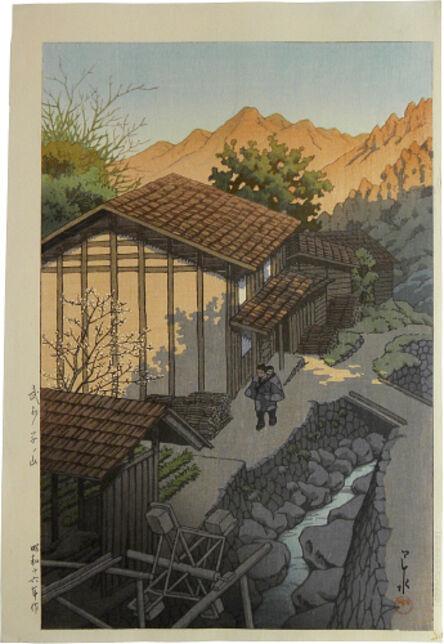 Kawase Hasui, 'Nenoyama, Bushu', 1941