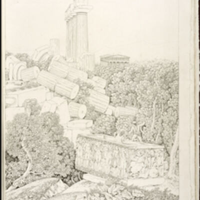 Louis-François Cassas, 'Vue d'une partie du Temple de Junon Lacinia … Agrigente', 1813