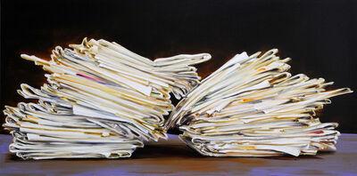 Cornelius Völker, 'Pile of Newspapers', 2017