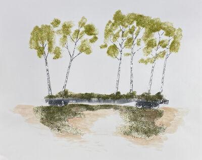 Blane De St. Croix, 'Train Landscape Series III', 2020