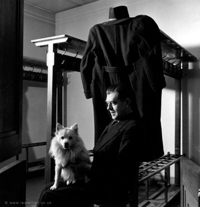 Lee Miller, 'René Magritte with Loulou , Brussels', 1944