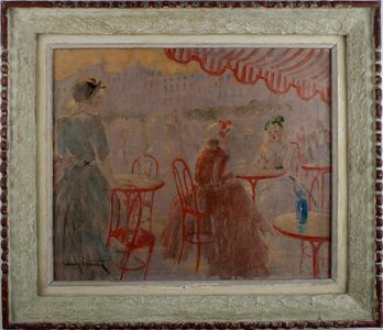 Louis Icart, 'Café Place Blanche', ca. 1925