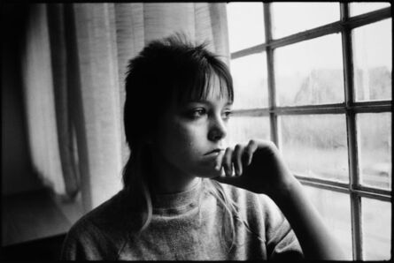 Mary Ellen Mark, 'Tiny looking out a window in juvenile detention', 1983