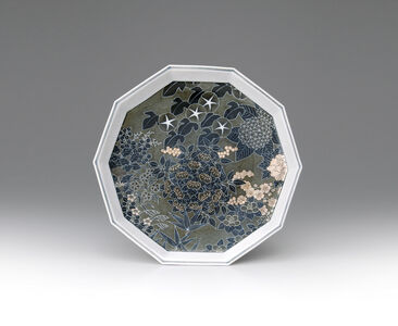 Imaizumi Imaemon XIV, 'Plate with Snowflake and Four Seasons Flower Patterns', 2016