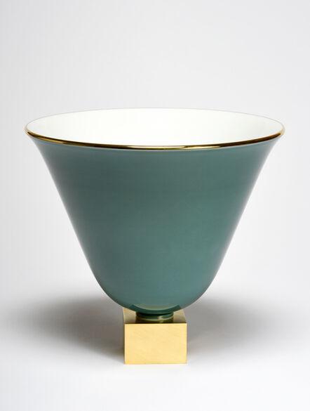 Jacques-Emile Ruhlmann, 'Vase Ruhlmann n°3 (green)', ca. 1930