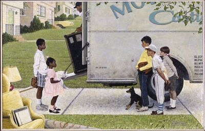 Norman Rockwell, 'New Kids in the Neighborhood (Negro in the Suburbs)', 1967