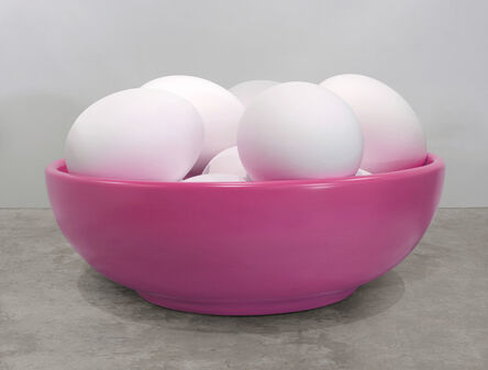 Jeff Koons, 'Bowl with Eggs (Pink)', 1994-2009