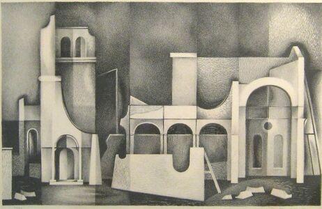 Clinton Adams, 'False Buildings ', 1949