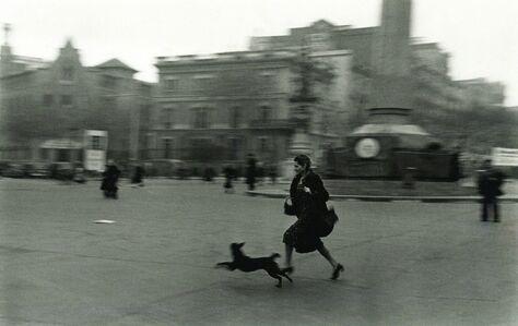 Robert Capa, 'Running for Shelter During Air Raid, Barcelona', 1939
