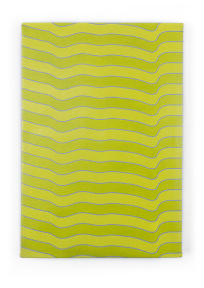 """Timothy Harding, '19"""" x 13"""" Yellow and Green', 2018"""