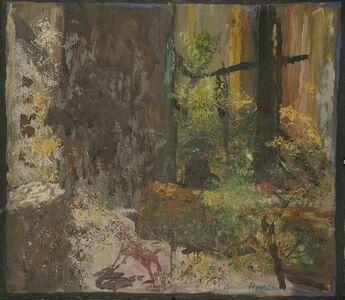 Gaylen Hansen, 'Red Dog in Woods', 2019