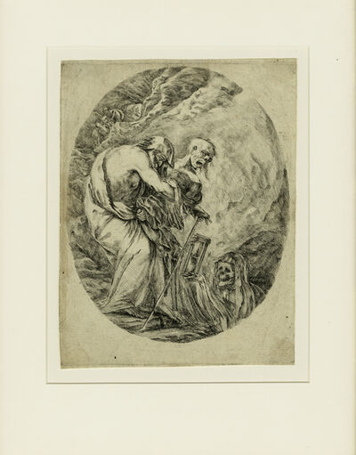 Stefano Della Bella, 'The Death carrying an Old Man into the Grave.', ca. 1648