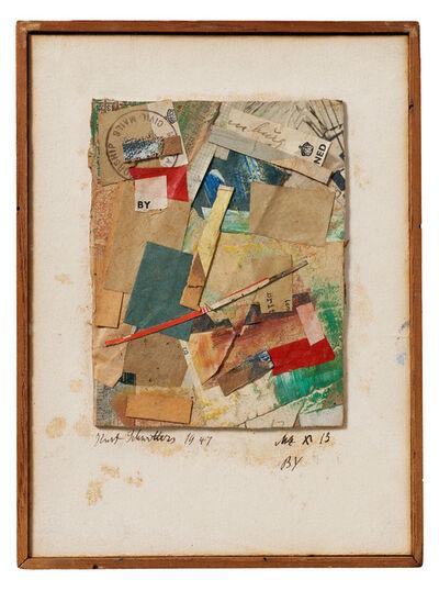 Kurt Schwitters, 'MZ x 13 BY ', 1947