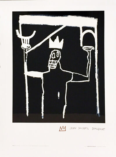 Jean-Michel Basquiat, 'Jean-Michel Basquiat lithographic poster (Enrico Navarra Paris) ', 1997