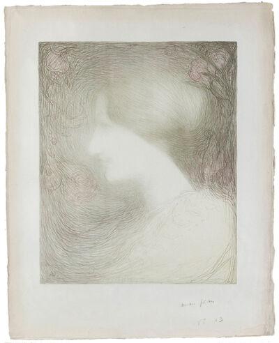 Edmond Aman-Jean, 'Tête de Femme, de Profil à Gauche', circa 1897