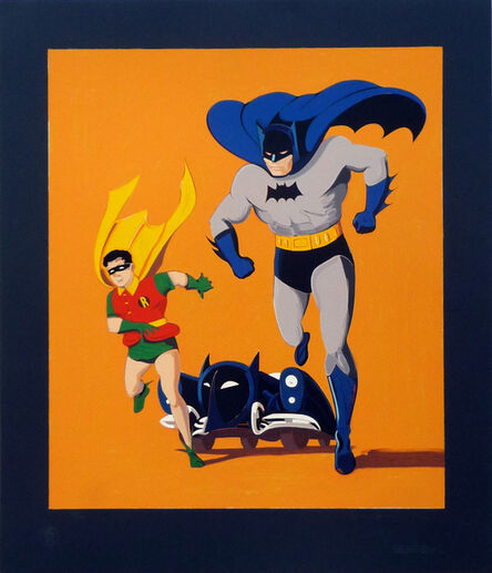 Mel Ramos, 'Batman, Robin and Batmobile', 1989
