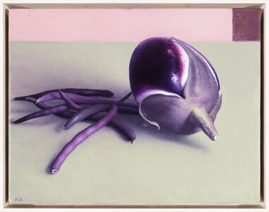 Amy Weiskopf, 'Eggplant and Purple Beans', 2018