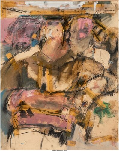 Larry Rivers, 'Seated Figures', circa 1957