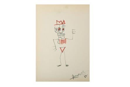 Jean-Michel Basquiat, 'Man with crown'