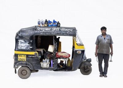 Martin Roemers, 'Bajaj autorickshaw #3; Mechanic Harikesh Chavan (Nashik, Maharashtra)', 2019