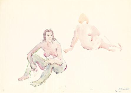 Maria Lassnig, 'Akt Reiterer', 1974