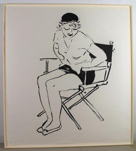 David Hockney, 'Celia in Director's Chair', 1980