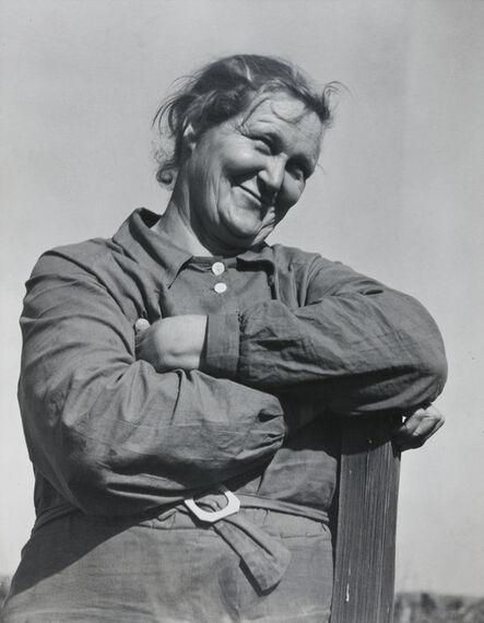 Dorothea Lange, 'Rural rehabilitation client, Tulare County, California, November', 1938