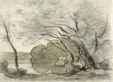 "Jean-Baptiste-Camille Corot, 'Study for ""Souvenir de Mortefontaine""', ca. 1864"