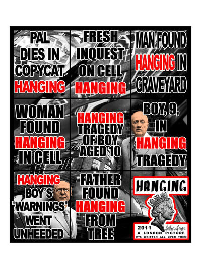 Gilbert and George, 'Hanging', 2011